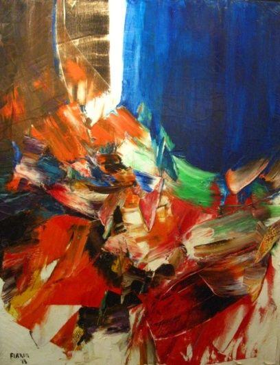 Marcelle Ferron, sans titre, huile sur toile. Follow the biggest painting board on Pinterest: www.pinterest.com/atelierbeauvoir