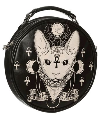 BASTET Egyptian Cat ROUND BAG
