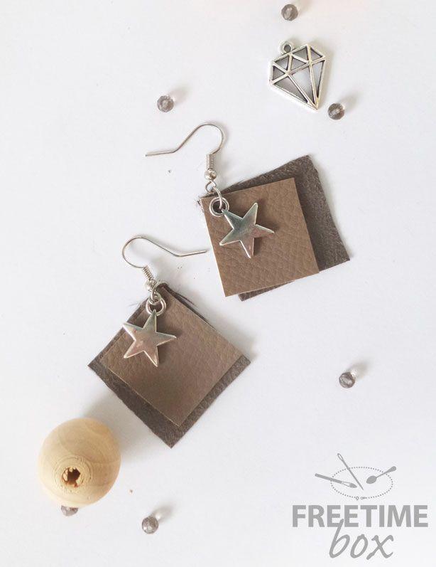 Fabriquer boucle d'oreille cuir