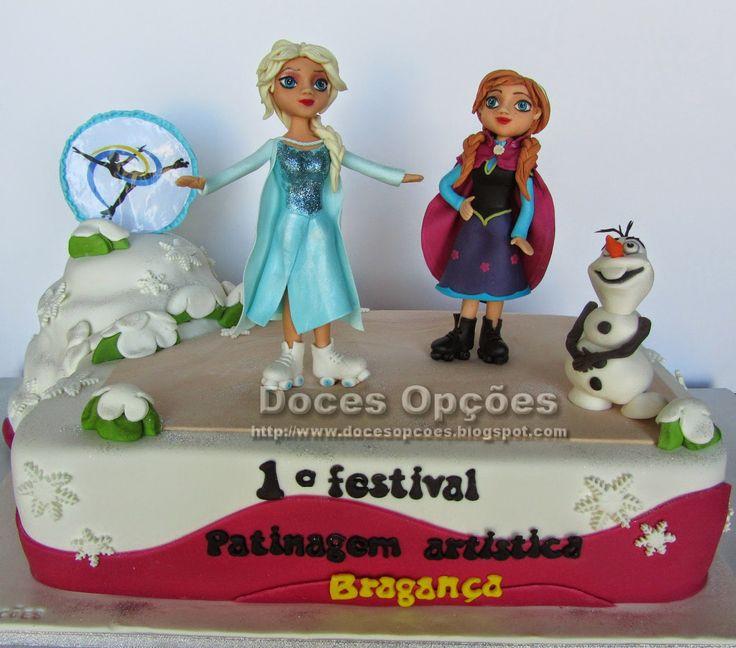 Doces Opções: Bolo 1º Festival de Patinagem Artística em Braganç...