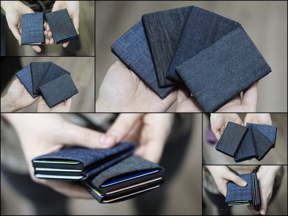Limited Edition - Denim Minimalist Wallet, Womens Wallet, Mens Wallet, Slim Minimalist Wallet, Modern Design Wallet - RFID Wallet