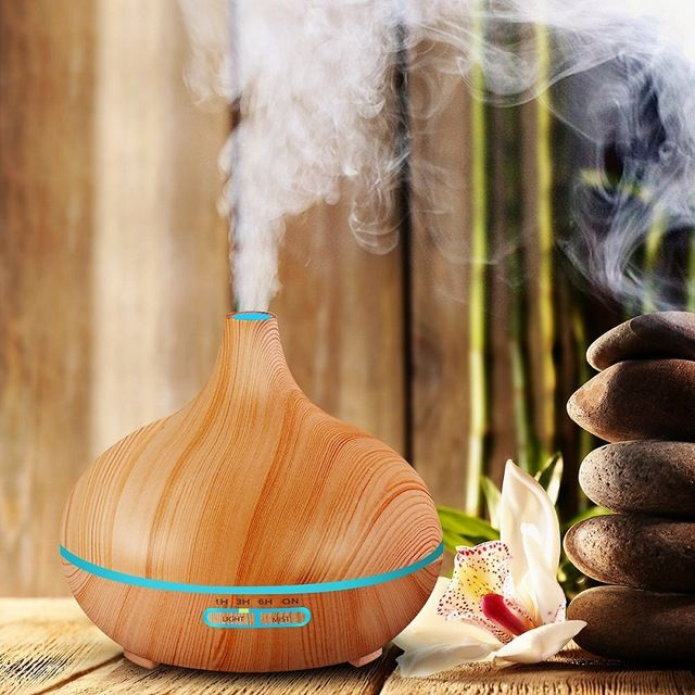 300ml Air Humidifier Essential Oil Diffuser  Lamp Aromatherapy Electric Aroma Mist Maker for Home