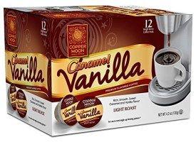 Copper Moon Caramel Vanilla Light Roast Single Cups Aroma Cups 12ct