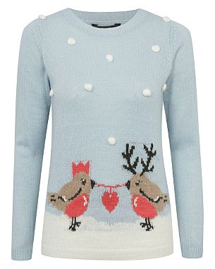 Bobble Robin Christmas Jumper from Asda George size 14