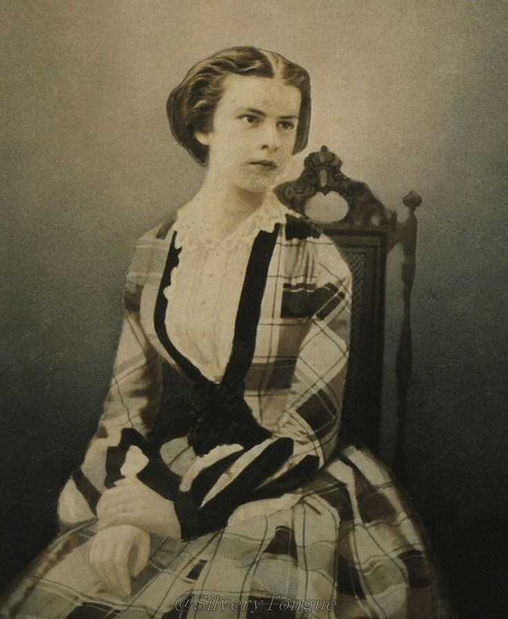 1853 Elisabeth (Sissi) one year before she married her 23 year old nephew Emperor Franz Joseph I at the age of 16.