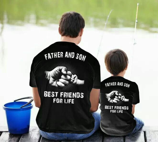 Best friends, father and son shirts