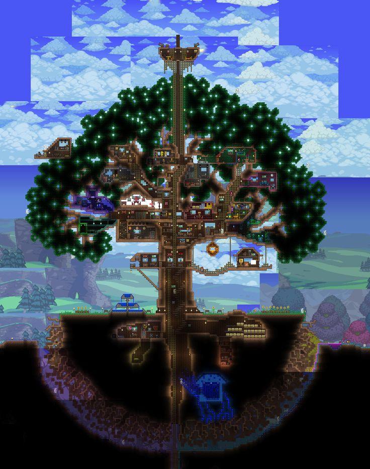 Terraria Npc House Ideas: More Terraria And Tree Houses Ideas