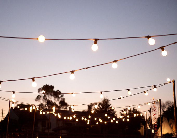 Feast In The Field Is One Of The Style Cou0027s Signature Outdoor Weddings,  Featuring Festoon. Festoon LightsString LightsBulb ...