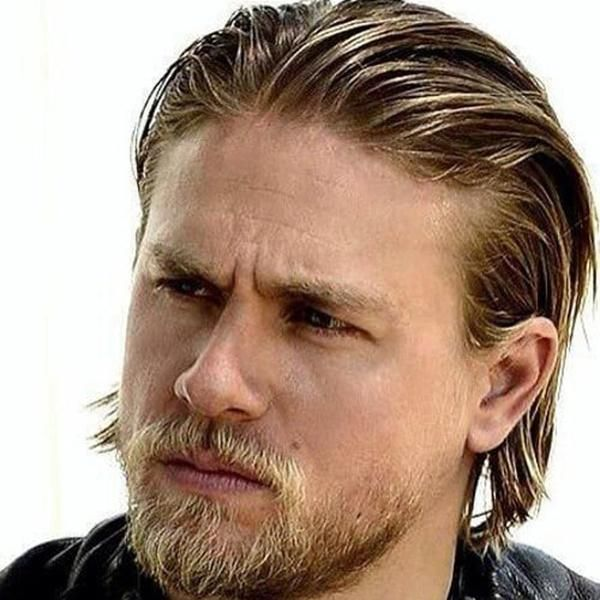 How To Get The Jax Teller Hairstyle Mens Hairstyles Charlie Hunnam Long Slicked Back Hair