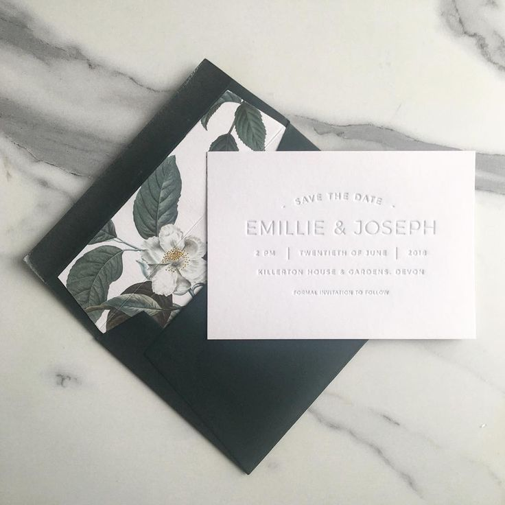Our Emillie save the date looks great paired with our floral liner. About to start designing this combo for a client! #letterpress #minimal #classic #wedding #weddinginvite #weddingstationery #weddingdetails #letterpressprinted #printingpress #letterpresslove #stationery #paper #papergoods #gmund #cottonpaper #envelopes #rsvp #responsecard #marble #blackandwhite #minimalism #baskerville #italic #design #colorplan #floral #envelopeliner #graphicdesign #stationery #weddinginspiration…