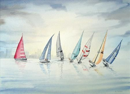Calm waters, Watercolour paintings, Roger Orton, SAA Professional ...