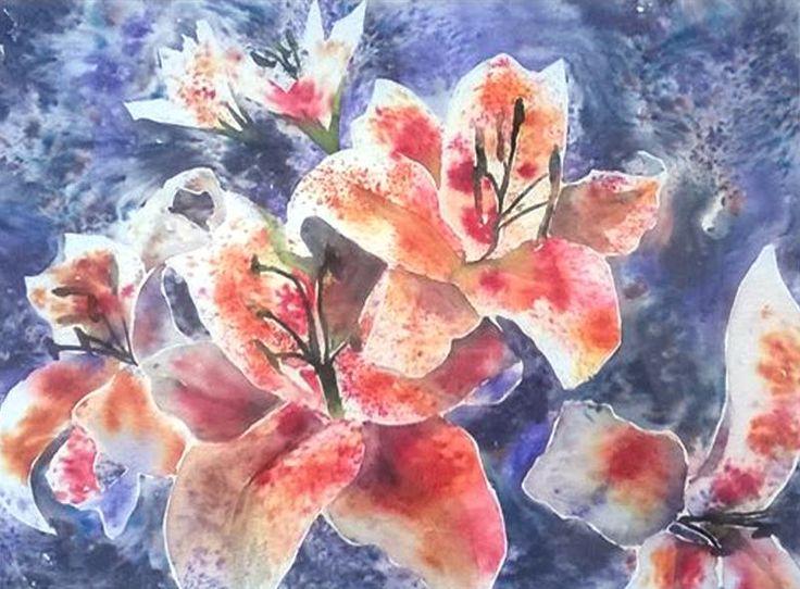Orange Lillies by suzannenichols