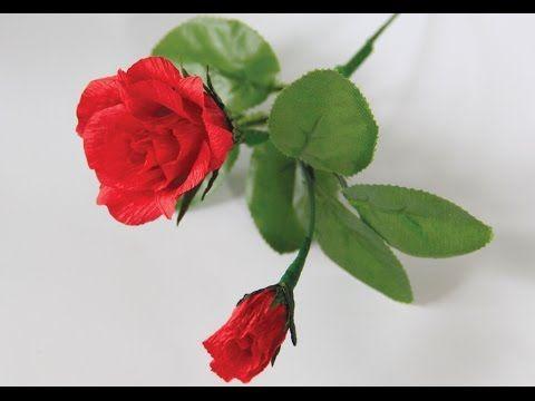 [How to make] Rose paper flower tutorial - Hướng dẫn làm hoa hồng (ghép ...
