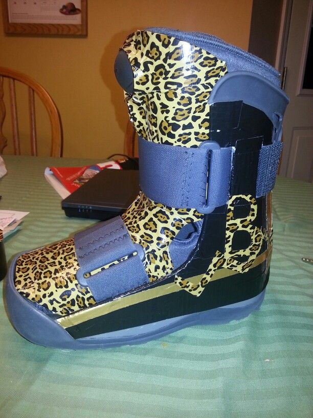 Duct tape & the need to have a stylish air cast boot #bling # air cast