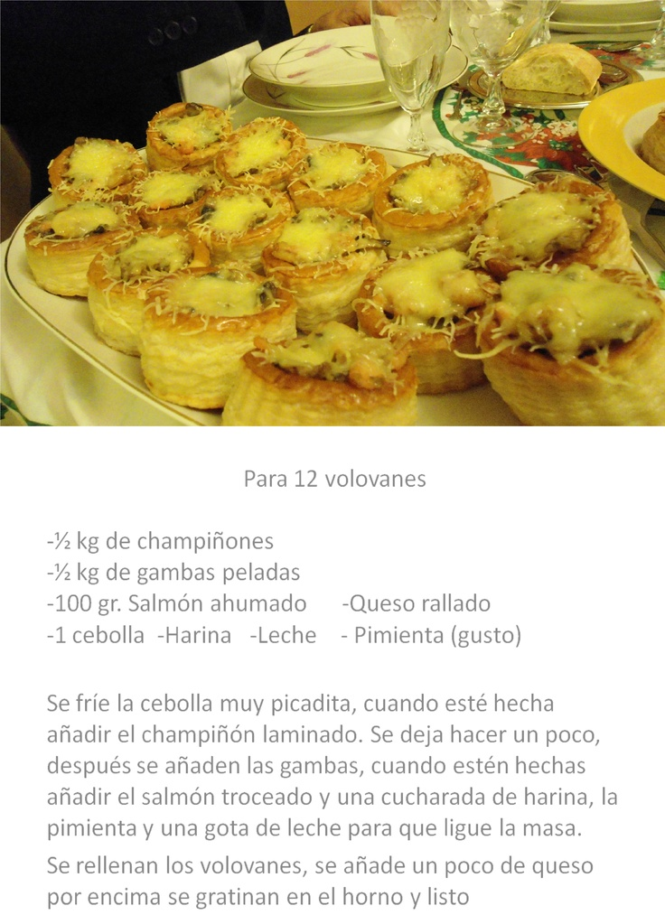 Volovanes rellenos: Fooddrinksand Desserts
