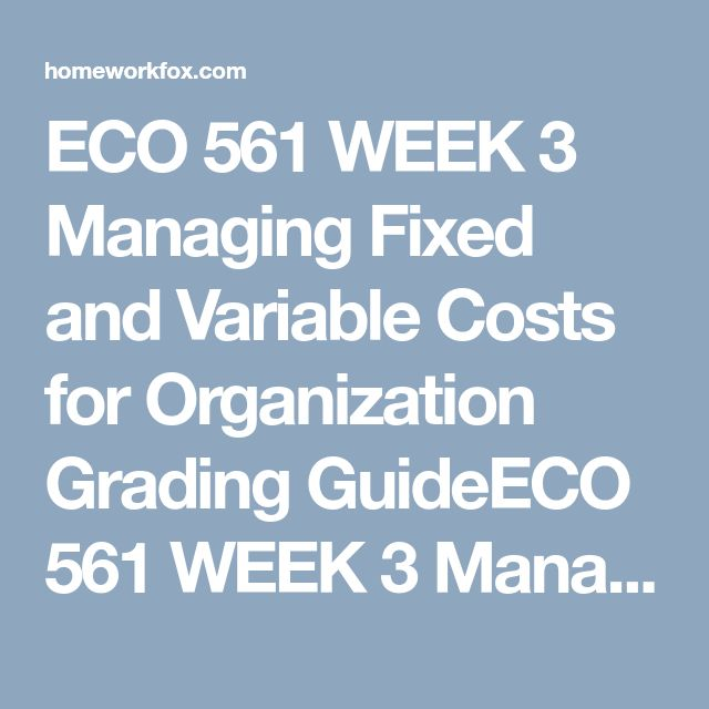 eco 561 week 4 reflection Please install flash player: share on facebook share on twitter fullscreen mode.