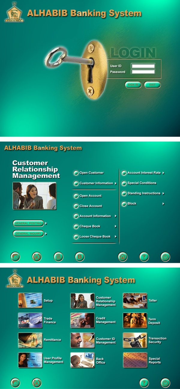 Bank Al Habib - core banking interface by Naumeena Suhail, via Behance