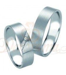 Βέρες γάμου από πλατίνα με διαμάντι Breuning 9084-9085