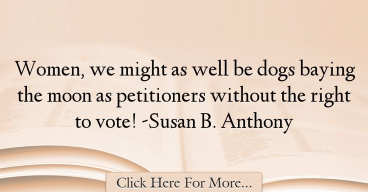 Susan B. Anthony Quotes About Women - 74219