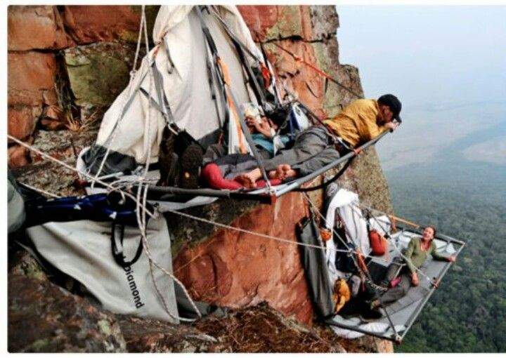 Pitching a tent on the side of a mountain & 55 best MY CLIFF HOUSE images on Pinterest | Climbing Adventure ...