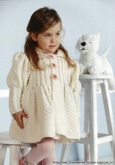 Пальто для маленькой модницы (Вязание спицами) | Журнал Вдохновение Рукодельницы