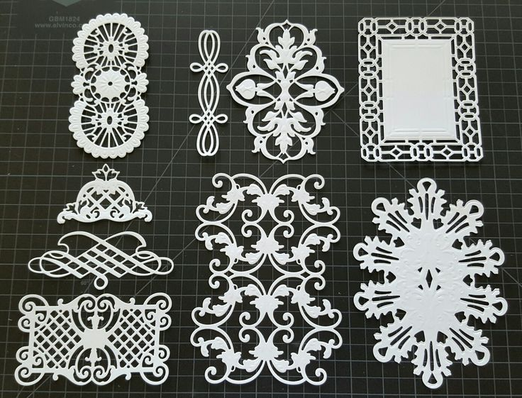Anna Griffin cut and emboss die cuts - original Fretworks on top and Fretworks 2 below #AnnaGriffin #Cuttlebug