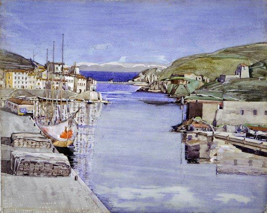 Charles Rennie Mackintosh,  A Southern Port, c. 1924, Glasgow City Council, Glasgow Museums
