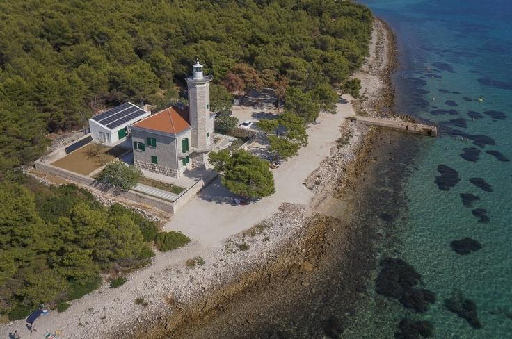 Lighthouse Lanterna reinvented as a luxurious vacation house on island Vir in the region of Dalmatia in Croatia #lighthouse #dalmatia #croatia #kroatien #island vir #insel vir #vir