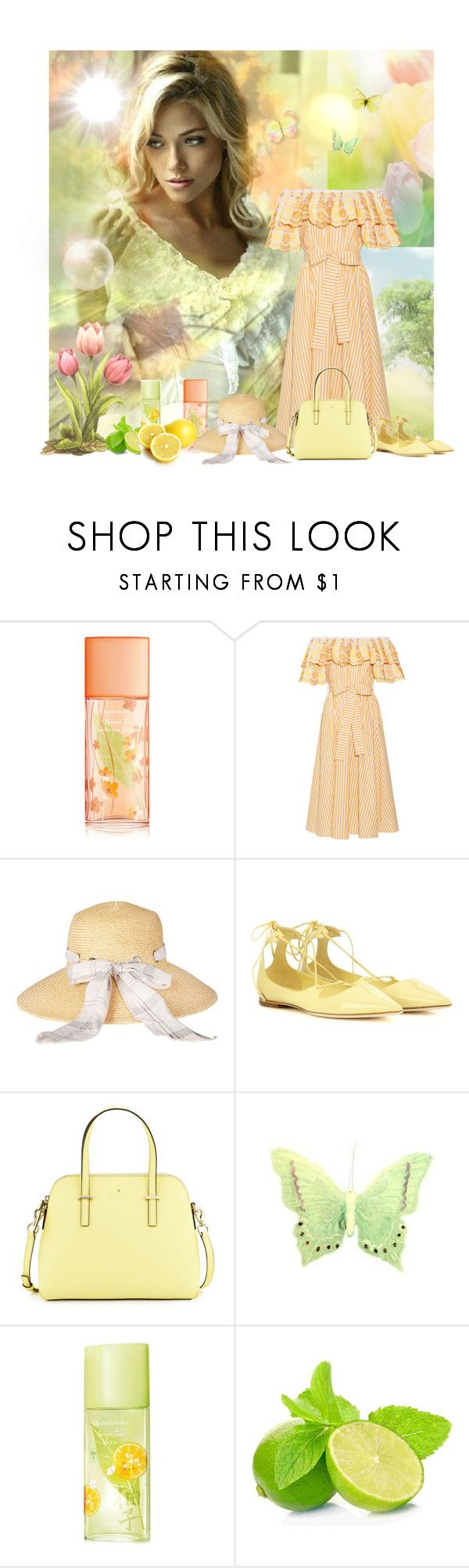 """Untitled #2710"" by neverorever ❤ liked on Polyvore featuring Elizabeth Arden, Gül Hürgel, Barbour, Jimmy Choo and Kate Spade"