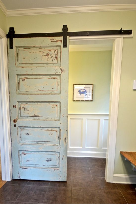 Sliding Doors...would Love To Find An Old Door To Use For This. Vintage  DoorsHouse ...
