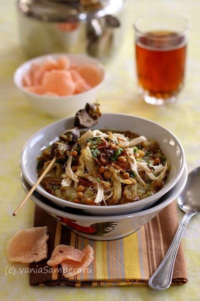 Bubur Ayam - One of the Most Famous Indonesian Breakfast, Chicken Porridge! | V.Samperuru #IndonesianCulinary