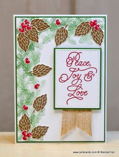 Hello, Crafters.   Although this is card number  3 in my Peace This Christmas series, the sentiment is the first one I stamped.   I can't qu...