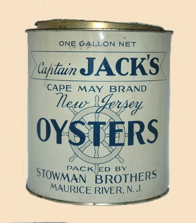 Stowman Brothers, Maurice River, N.J.: Diners Menu, Jersey Shore, Jack Capes, Branding Oysters, Jack Branding, Mauric, Captain Jack, Rivers, Beaches Decor