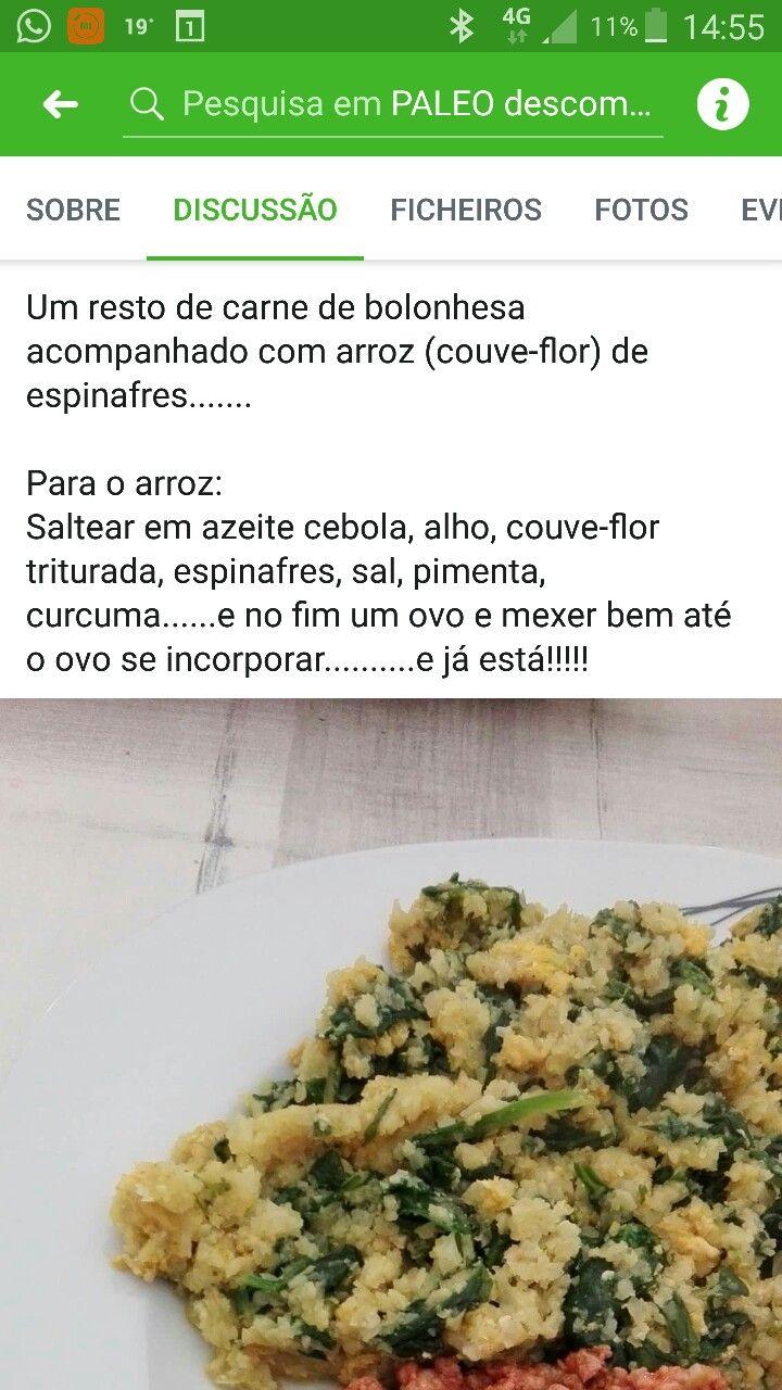 Arroz De Couve Flor Com Grelos Paleo Food Rice