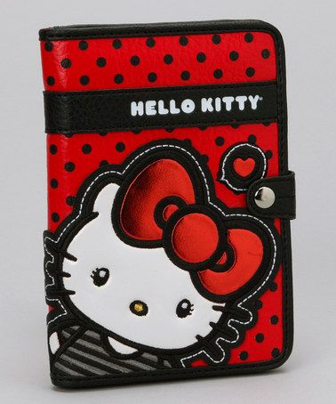 Take a look at this Red & Black Polka Dot Hello Kitty Passport Cover by Hello Kitty on #zulily today!