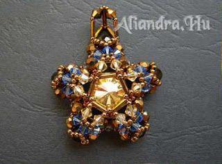Ékszerkészítési útmutatók-tutorialok gyűjtőhelye: Winters flower pendant pattern- Aliandra