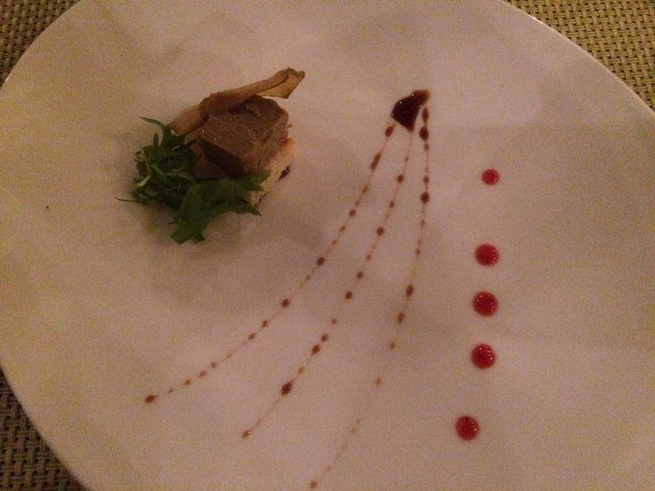 Foie.restaurante la Palapa.hotel paradisus la perla.playa del Carmen.Mexico.
