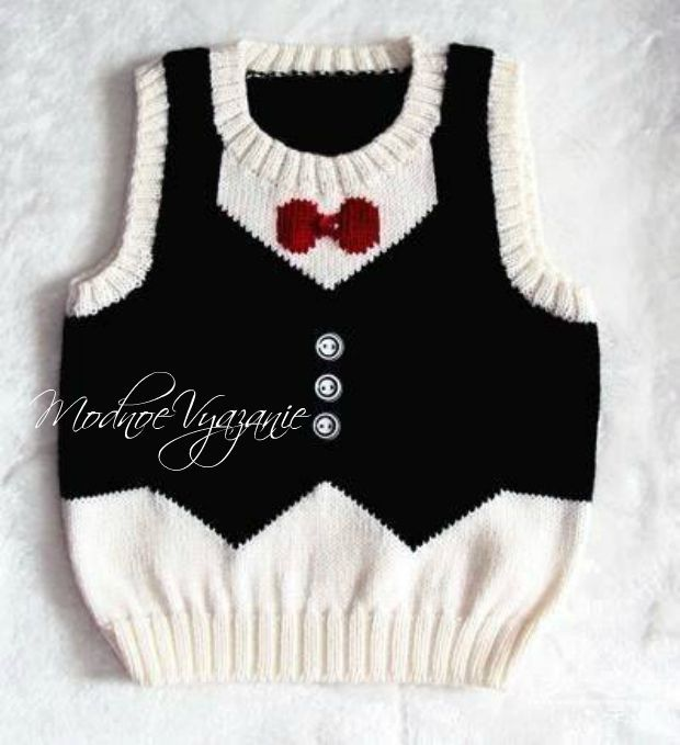 Жилет для мальчика *Джентльмен* - Модное вязание