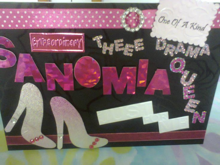 Personalized Drama Queen Card Done In A5 And A4