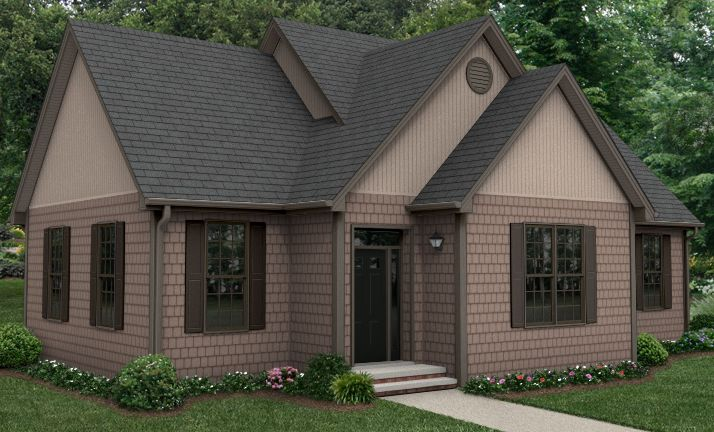 Dark windows with 2 shades of brown siding i would put for Dark brown exterior trim