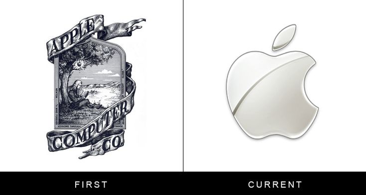 Apple: The original Apple logo, which was designed in 1976 by Ronald Wayne, featured a drawing of Isaac Newton sitting under an apple tree, as well as a William Wordsworth quote. It only lasted one year.