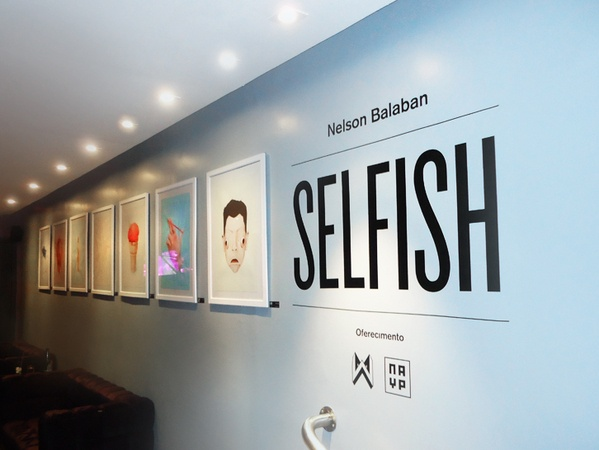 Selfish (Solo Exhibition) by Nelson Balaban, via Behance