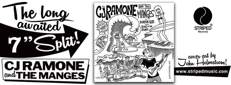 "#In primo piano, Punk news:  Split: CJ Ramone/The Manges! http://www.punkadeka.it/split-cj-ramonethe-manges/ Hey hey punk rockers! La Striped Records annuncia l'imminente uscita dello split che vede protagonisti i nostrani Manges e nientemeno che CJ Ramone! Ebbene si! L'uscita del 7″ è prevista per il 30 novembre ed include 2 cover di surf music anni '60: – ""Surfer Gi..."