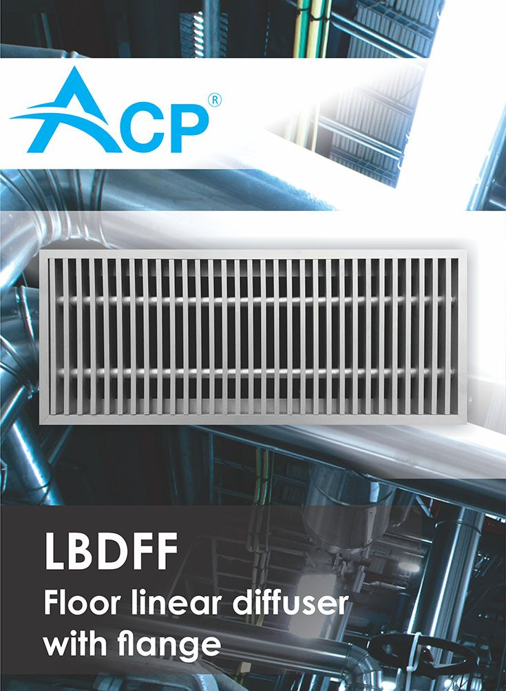 Floor linear diffuser with flange LBDFF