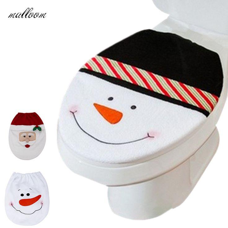 Cheap Pupazzo di neve toilet seat cover e tappeto bagno set decorazione di natale, Compro Qualità Decorazioni e forniture di natale direttamente da fornitori della Cina:                                           Caratteristiche:            100% brandnew ed alta qualità.