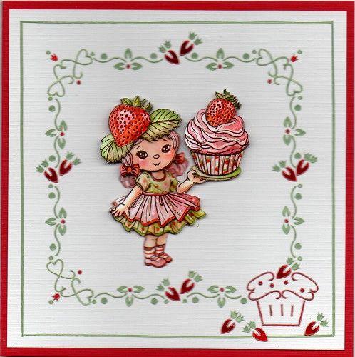 Voorbeeldkaart - Een cupcake kaart - Categorie: Hobbydots - Hobbyjournaal uw hobby website