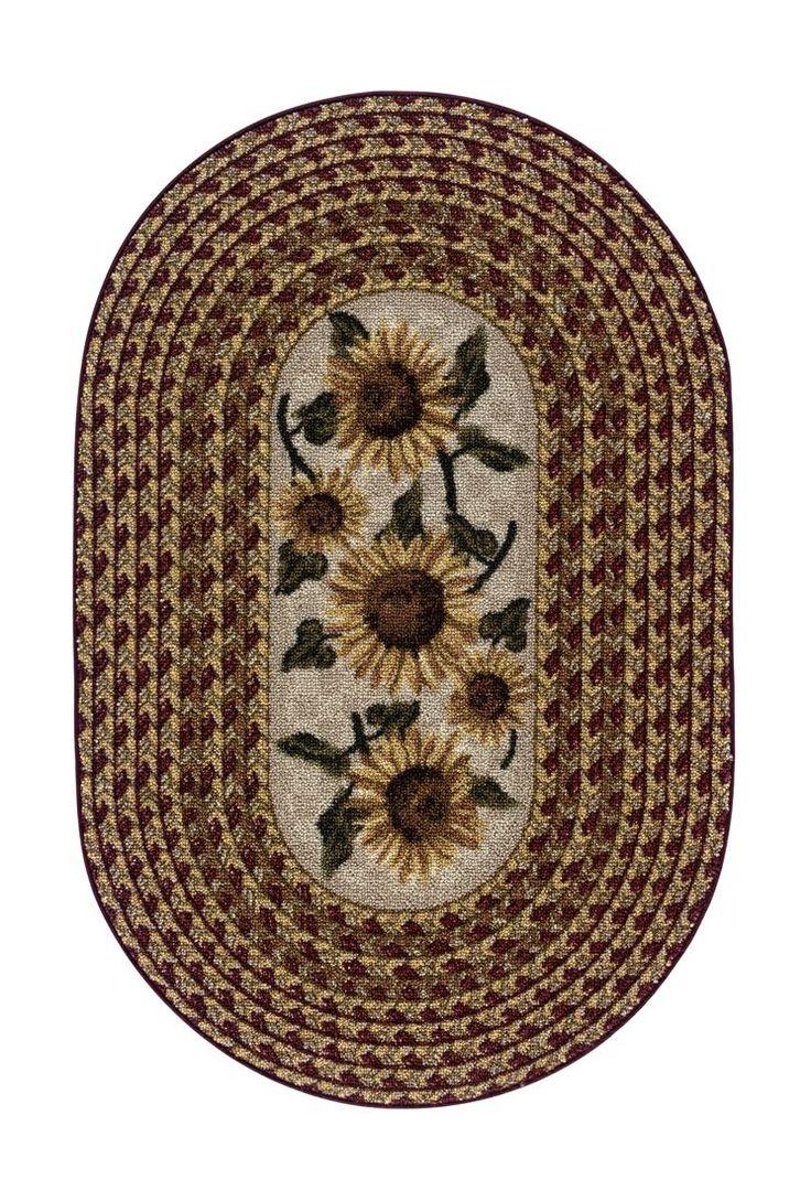 Sunflower Braid Kitchen Rug Home Sweet Home