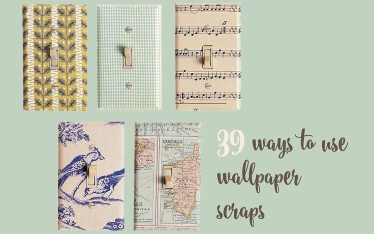 Here are 39 fantastic ways you can use wallpaper scraps to brighten up your home. If you've got no leftovers of your own, free wallpaper samples are ideal!