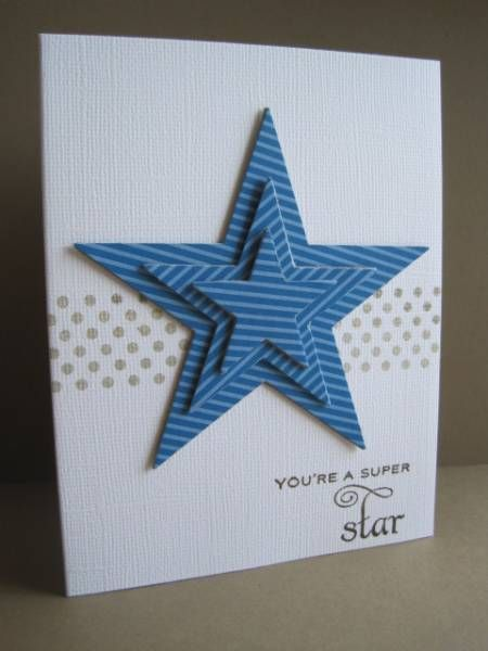 Star card  I think this would look GREAT with layered RED, WHITE, and BLUE stars!