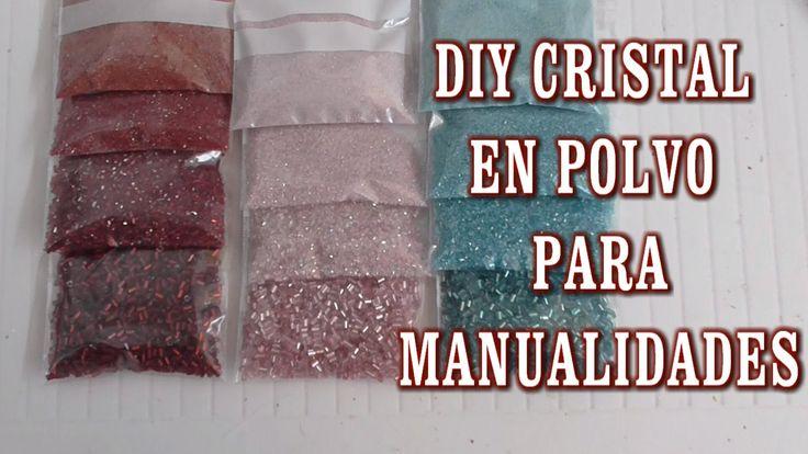 DIY COMO HACER CRISTAL EN POLVO PARA MANUALIDADES (+lista de reproducción)